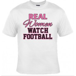 Real Women Watch Football Tee (Short/Long Sleeves)