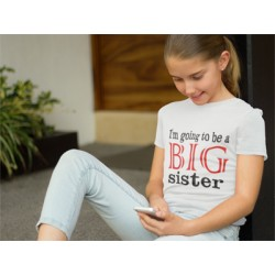 Going To Be A Big Sister Youth Tee