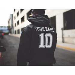 Team Name & Number Combo Hoodie