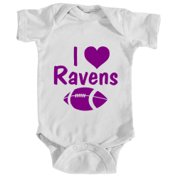 I Love Ravens Football Onesie