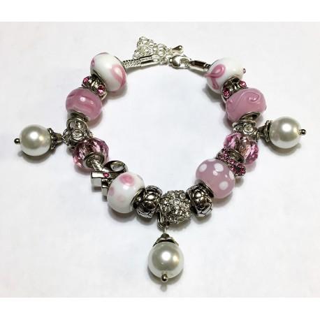 Cancer Awareness Pink Amp White Customized Pandora Inspired