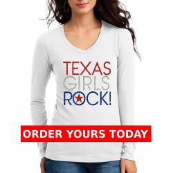 Texas Girls Rock Glitter Tee