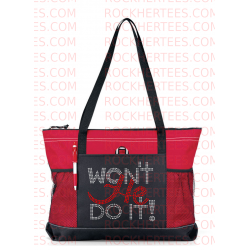Wont He Do It Rhinestone Tote